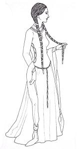 "Immagine tratta da ""A History of Fashion"", J. Anderson Black, Madge Garland, Frances Kennett, Orbis, 1980"