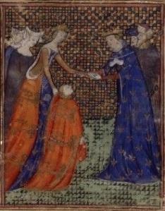 Isabella Plantageneto figlia di Edoardo III, in surcot