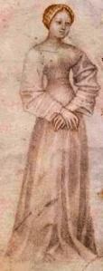 """Giovannino de'Grassi, Poetesse - dal """"Taccuino di disegni detto di Giovannino de'Grassi"""", 1370, Bergamo, Biblioteca Civica A. Mai."""