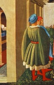 """""""Nascita di San Nicola, la Vocazione, La dote a tre fanciulle povere"""", Beato Angelico 1437, Città del Vaticano"""