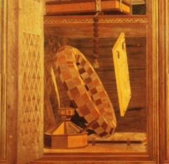 Lavorazione in legno dallo studiolo di Federico da Montefeltro