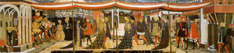 Corteo nuziale, Cassone Adimari, Firenze