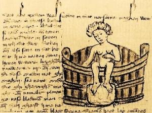 Illustrazione da un manoscritto medievale del De passionibus mulierum ante in et post partum