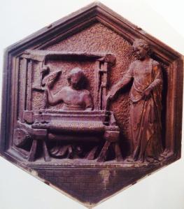 La tessitura, Museo dell'Opera del Duomo, Firenze, Andrea Pisano, XIII secolo