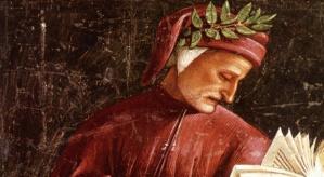 Dante in infulae e berretto
