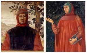 Petrarca in surcot e capperone / Petrarca in camicia, tunica e garde-corps