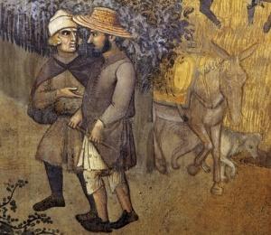 Particolare, Sala dei Nove, Palazzo Pubblico, Lorenzetti