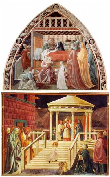 Paolo Uccello: Adorazione del Bambino. Presentazione della Vergine al Tempio