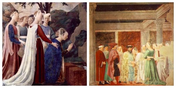 Leggenda della vera Croce - L'adorazione del Sacro Legno e l'incontro di Salomone con la regina di Saba