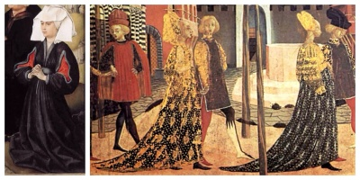 Particolari. Trittico della Crocifissione. Corteo nuziale