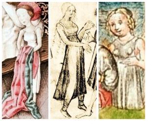 """A sinistra. Particolare di """"Jason and Medea"""" 1445 Al centro. Particolare esposto al Museo d'Arte di Braunschweig, Germania, 1420 A destra."""