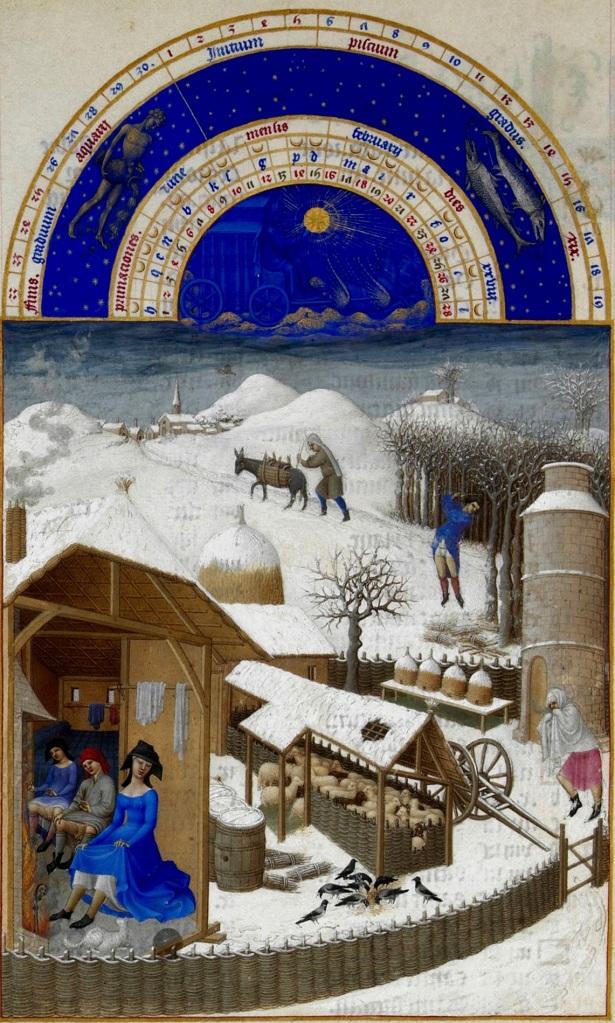 """Le """"Très Riches Heures de Duc de Berry"""", fratelli Limbourg, 1412 - 1416"""