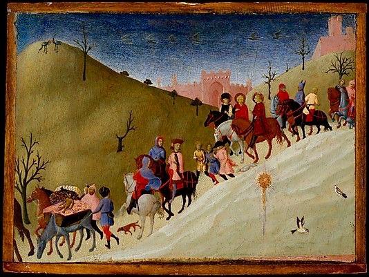 """Sassetta (Stefano di Giovanni), """"Il giorno dei Magi"""", 1433, Metropolitan Museum of Art, New York"""