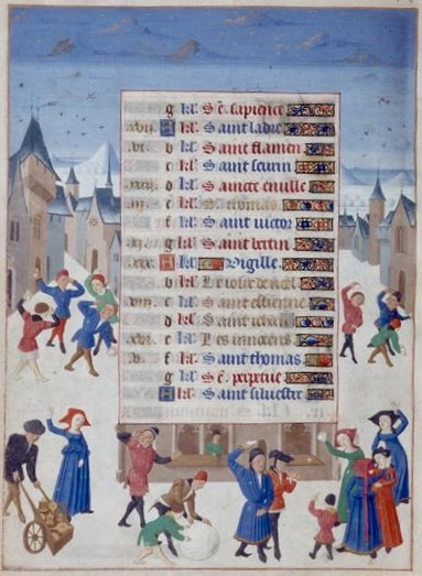 Dicembre, Libro delle Ore, di Adélaïde de Savoie, Musée Condé, 1460