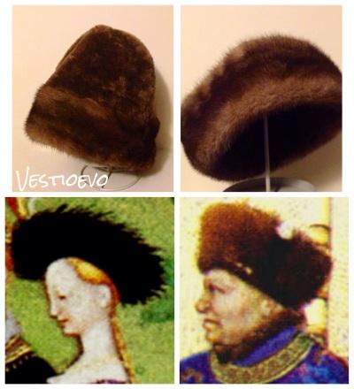 Cappelli in pelliccia, Francia 1415