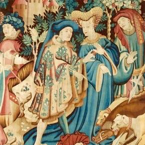Pellanda francese con bordi in pelliccia di cinghiale, 1415, Paesi Bassi