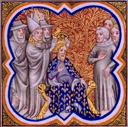 Miniatura - L'incoronazione di Carlo Magno