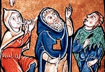 Mantelline o pellegrine, miniatura, 1173