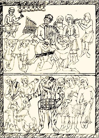 "Messale XII secolo, ""Danze celesti e danze infernali"""