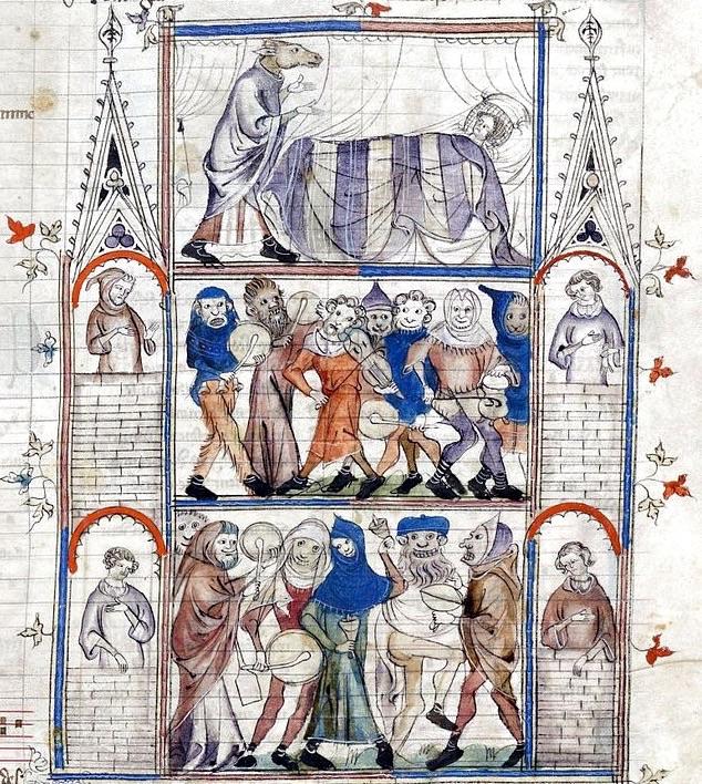 """Miniatura XIV secolo da """"Roman de Fauvel"""""""
