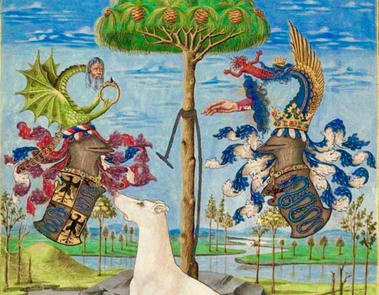 Stemmi delle famiglie Sforza e Visconti