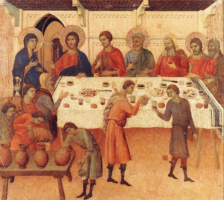 Le nozze di Cana, Duccio di Buoninsegna, Siena 1308